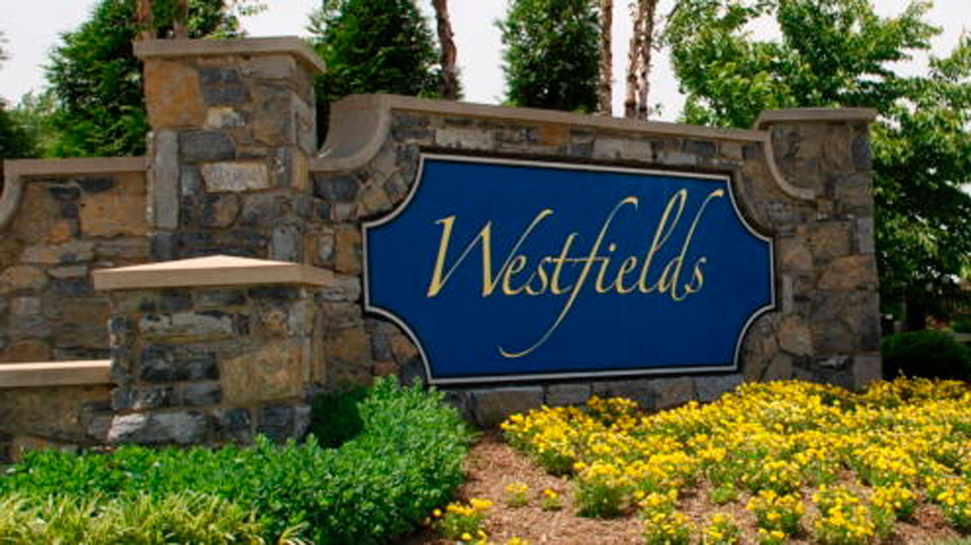 Westfields entry sign