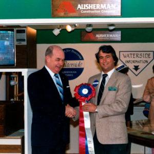 Marvin Ausherman receiving Waterside award