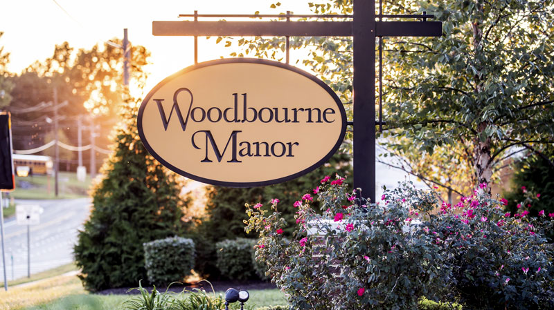 Woodbourne Manor entry signage