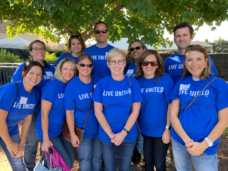 Ausherman properties employees volunteering