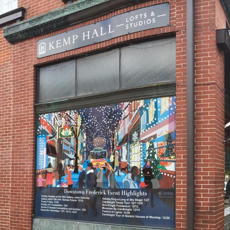 Kemp Hall Window Art - Winter