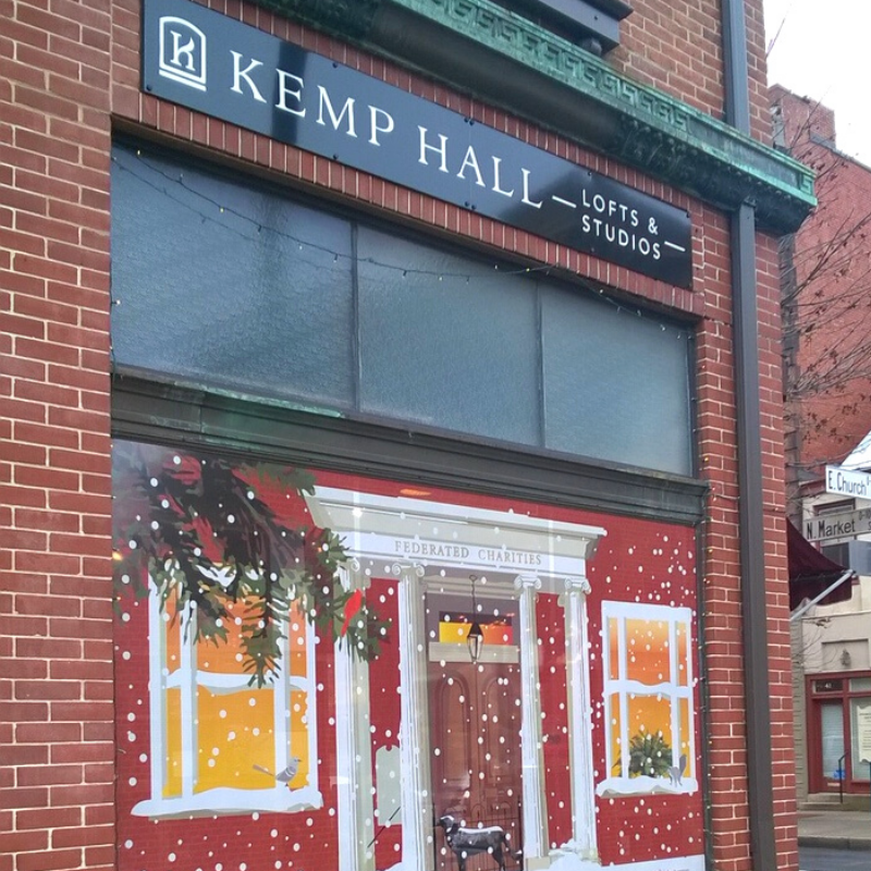 Kemp Hall Window Art